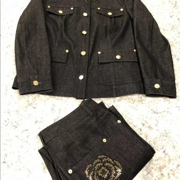 St. John Jackets & Blazers - saint john denim outfit